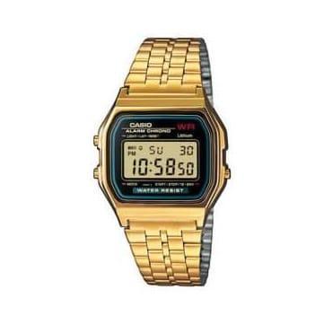 Reloj Casio A159WGEA-1EF Unisex con caja y brazalete de acero chapado Casio Collection