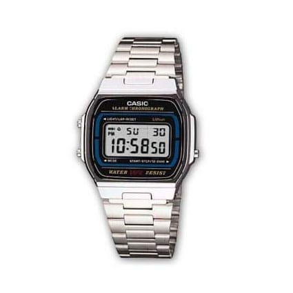 Reloj Casio A164WA-1VES de Unisex con caja y brazalete de acero