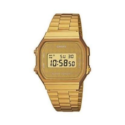 Reloj Casio A168WG-9BWEF Unisex con caja y brazalete de acero chapado