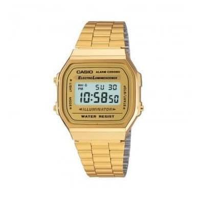 Reloj Casio A168WG-9EF Unisex con caja y brazalete dorado Casio Collection