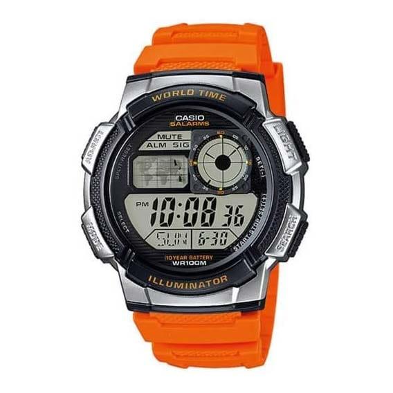Reloj Casio AE-1000W-4BVEF de hombre NEW con caja y correa de resina naranja Casio Collection