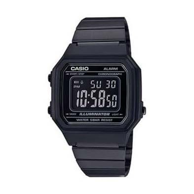 Reloj Casio B650WB-1BEF Unisex NEW con caja y correa de acero negra-black nuevo modelo Casio Collection
