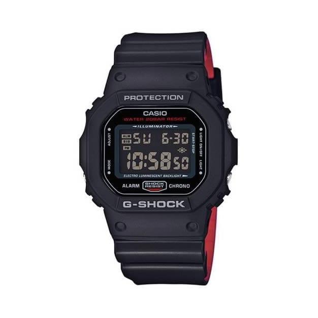 Casio Correa Negra Caja G 5600hr Hombre Dw Reloj Resina 2017 Roja Y Shock 1er De Con New P8nOkw0
