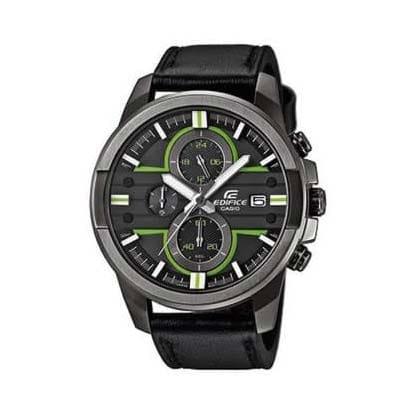 Reloj Casio EFR-543BL-1AVUEF de hombre NEW con caja de acero pavonado y correa de piel Edifice 2016