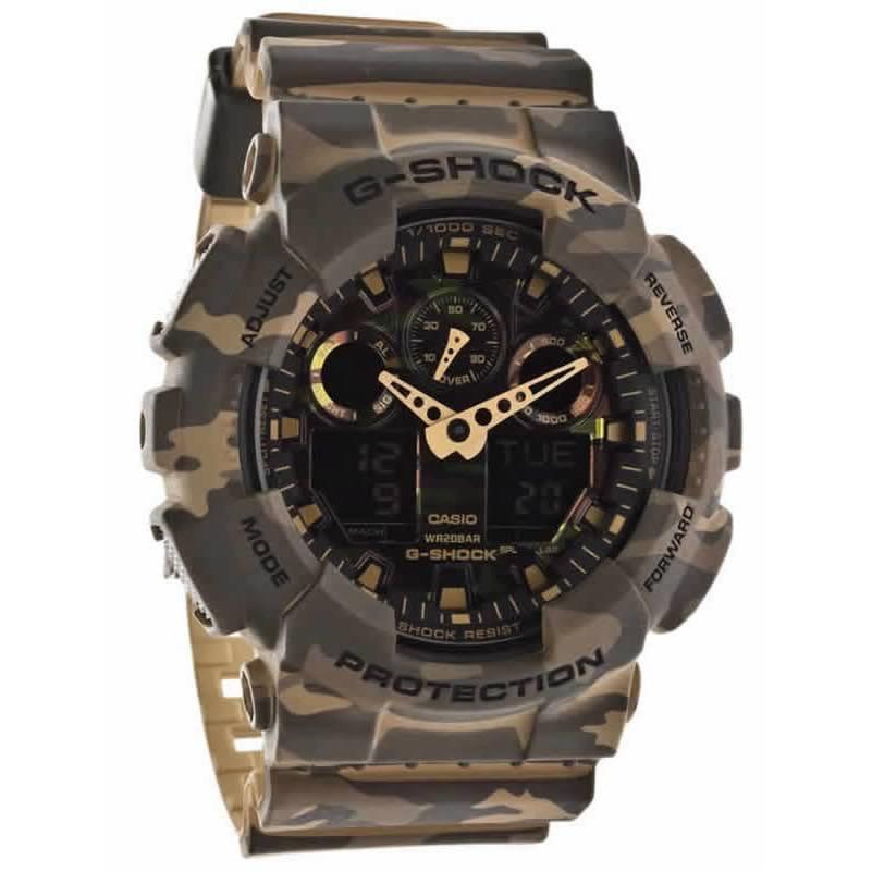 Reloj Casio GA 100CM 5AER de hombre NEW con caja y correa de resina militar Camuflaje 2015