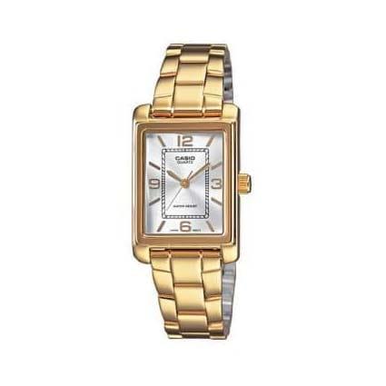 Reloj Casio LTP-1234PG-7AEF de mujer con caja y correa de acero chapado Casio Collection