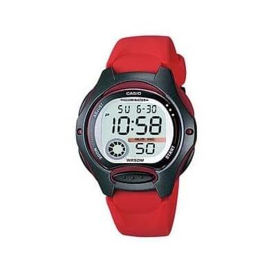 Reloj Casio LW-200-4VEF de niño NEW con caja y correa de resina rojo Casio Collection 2015