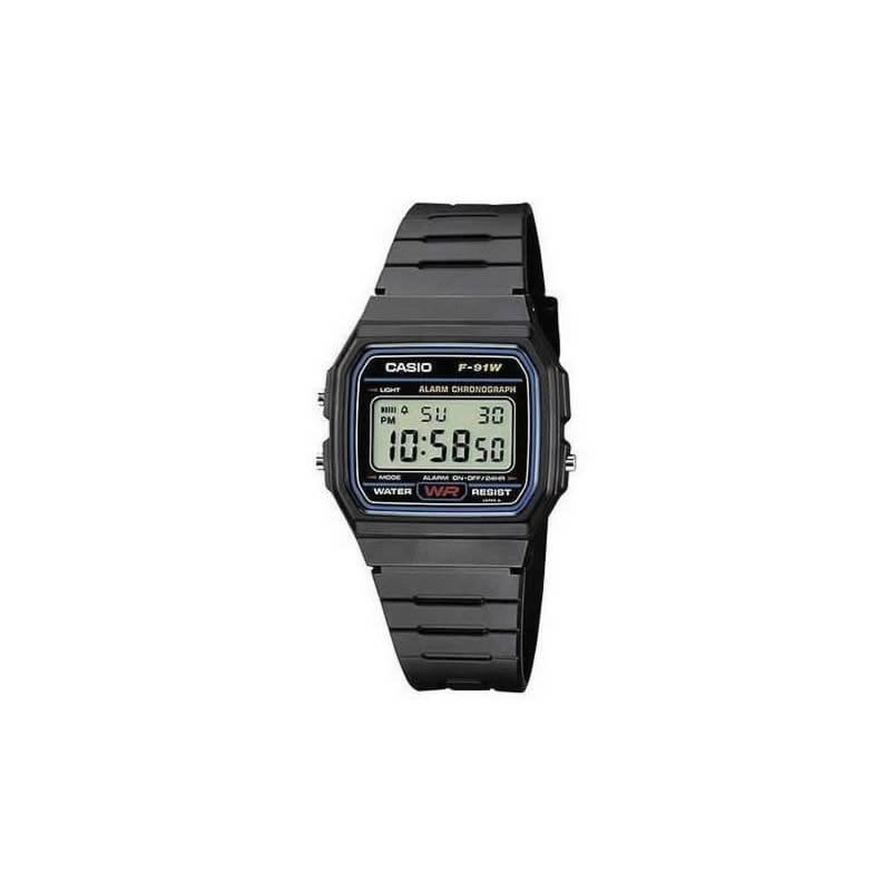 d4162c8f8588 Reloj Casio para hombre F-91W-1YER de caucho - Joyería Oliva