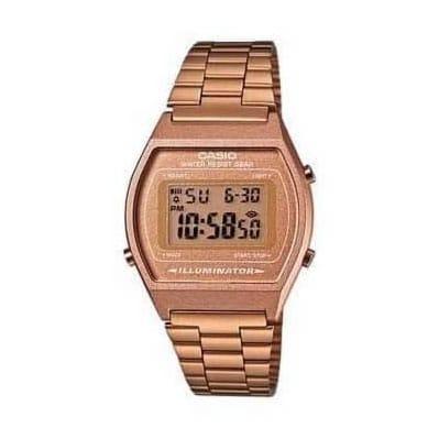 08e88a2df8fb Reloj Casio unisex B640WC-5AEF de acero chapado oro rosa Casio Collection