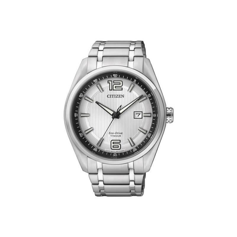2e4953a707c8 Reloj Citizen AW1240-57B de hombre con caja y brazalete de titanio Super  Titanium Eco. Clic para agrandar