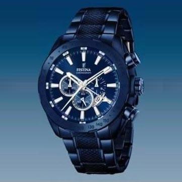 Reloj Festina F16887/1 de hombre NEW con caja y brazalete de acero ip azul Cronógrafo Prestige 2016