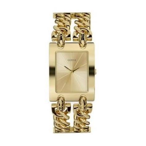 Reloj Guess W0311L2 de mujer NEW con caja y brazalete de acero chapado oro 2 cadenas