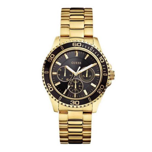 Reloj Guess W0231L3 de mujer con caja y brazalete de acero chapado en oro de 18 k