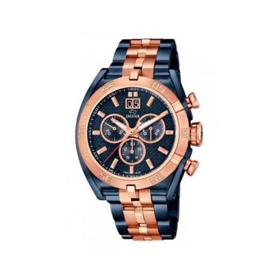 Reloj Jaguar J810/1 de hombre NEW con caja y brazalete de acero bicolor azul-rosa Edición Limitada 2016