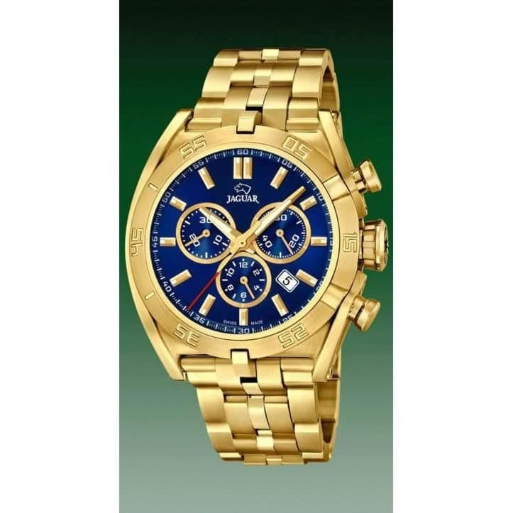 f704852c077b Reloj Jaguar J853 3 de hombre NEW con caja y brazalete de acero chapado en