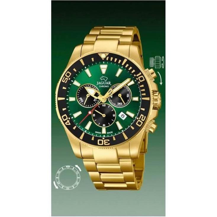 7993d84222ff Reloj Jaguar J864 1 de hombre NEW con caja y brazalete de acero chapado en