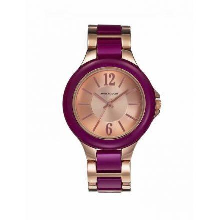 Reloj Mark Maddox MP0002-75 de mujer NEW cromado bicolor en rosa y fucsia