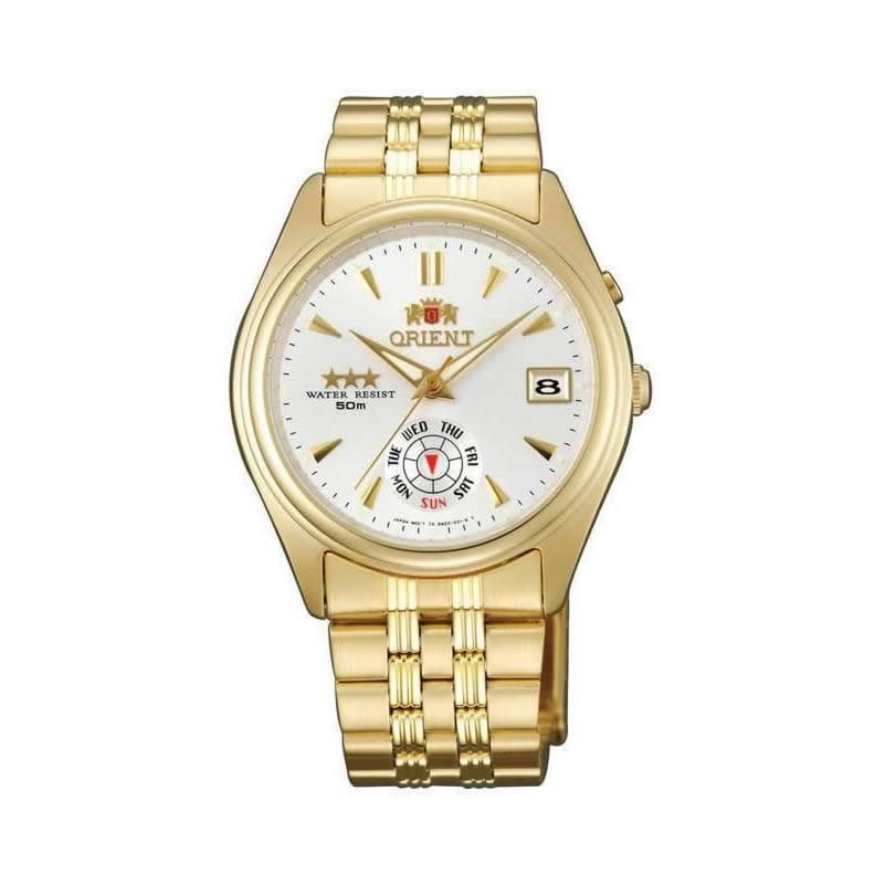 ba1a0e8f7cf2 Reloj Orient FEM5J00HWF de mujer OFERTA con caja y brazalete de acero  chapado en oro Automático