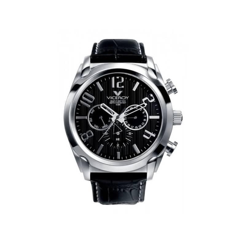f113d3658599 Reloj Viceroy 40347-55 de hombre con caja de acero y correa de piel