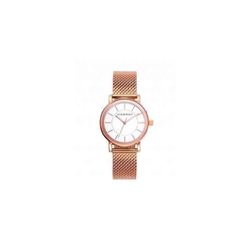 109b064ef565 Reloj Viceroy 40898-97 de mujer NEW con caja y brazalete de acero oro rosa  malla