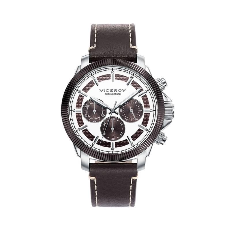 5bb6e16cd99d Reloj Viceroy 471061-47 de hombre NEW con caja de acero y correa de piel
