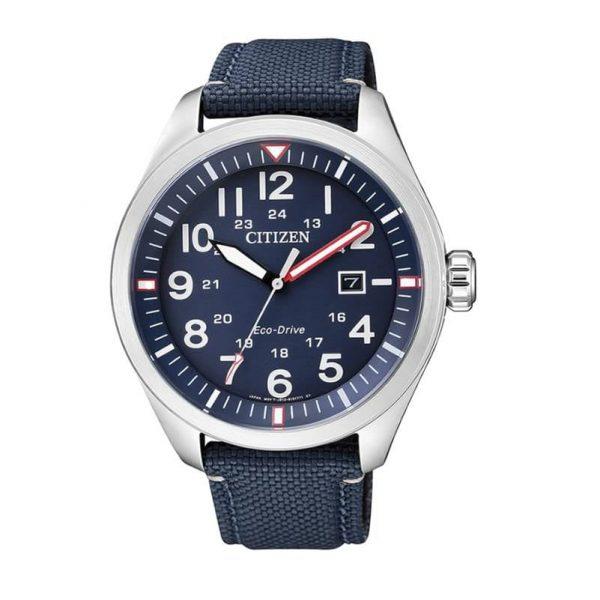 Reloj Citizen AW5000-16L de hombre NEW con caja de acero y correa de piel-nylon Eco-Drive Urban