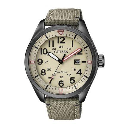 Reloj Citizen AW5005-12X de hombre NEW con caja de acero y correa de piel-nylon Eco-Drive Urban
