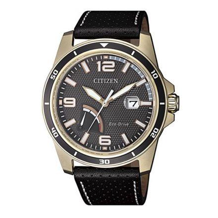 Reloj Citizen AW7033-16H de hombre NEW con caja de acero ip oro rosa y correa de piel Eco-Drive J850