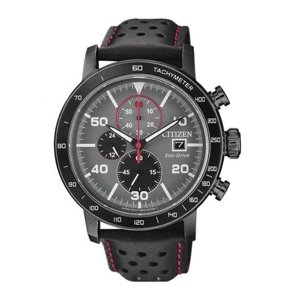 Reloj Citizen CA0645-15H de hombre NEW con caja de acero y correa de piel Cronógrafo Eco-Drive