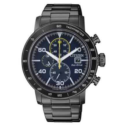 Reloj Citizen CA0645-82L de hombre NEW con caja y brazalete de acero pavonado en negro Chrono Sport