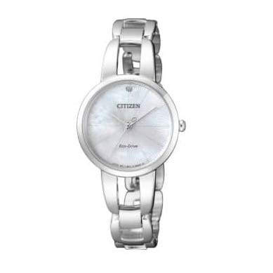 Reloj Citizen EM0430-85N de mujer NEW con caja y brazalete de acero Eco-Drive Lady