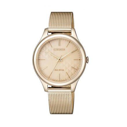 Reloj Citizen EM0503-83X de mujer NEW con caja y brazalete de acero oro rosa mesh Eco-Drive Lady