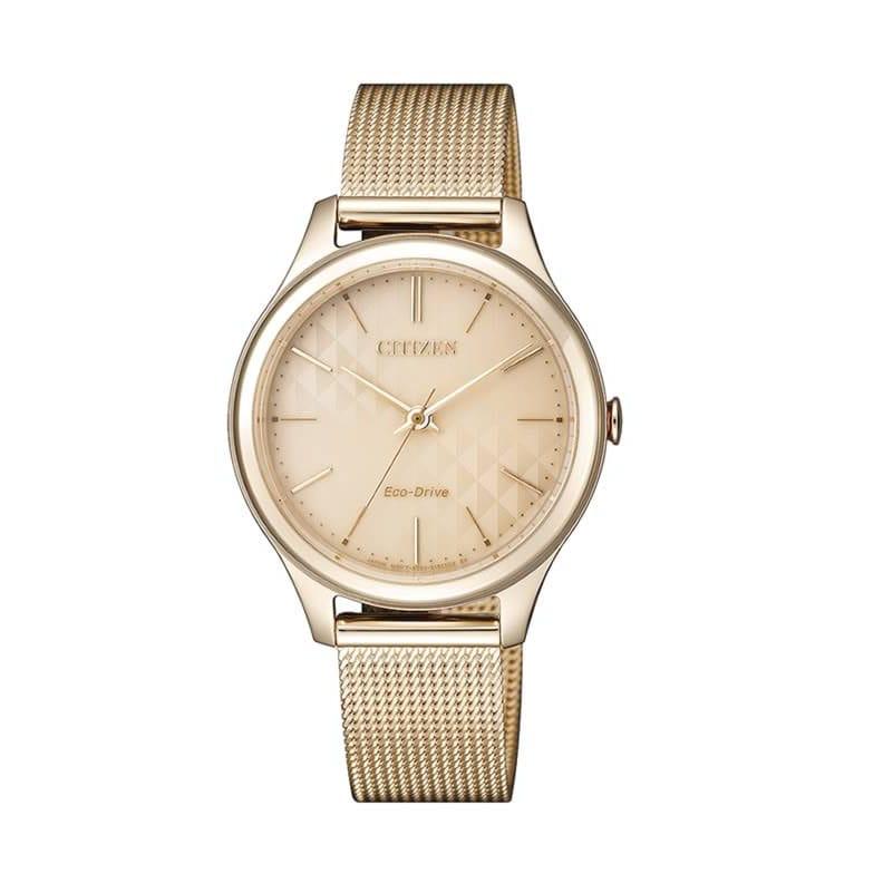 0139dd28333d Reloj Citizen EM0503-83X de mujer NEW con caja y brazalete de acero oro rosa