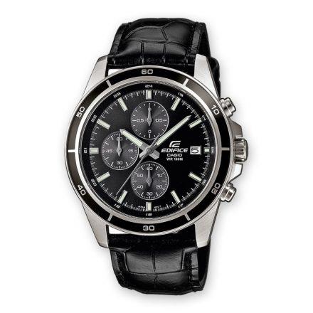 Reloj Casio EFR-526L-1AVUEF de hombre NEW con caja de acero y correa de piel negra Edifice