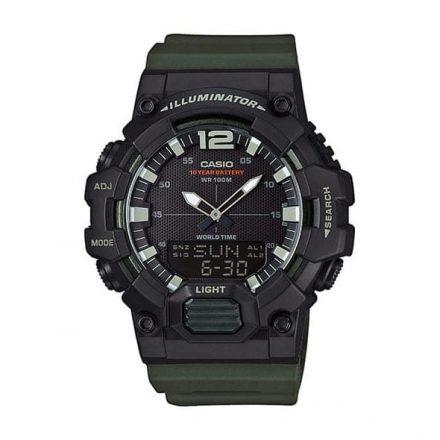 Reloj Casio HDC-700-3AVEF de hombre NEW con caja y correa de resina negra-verde Casio Collection