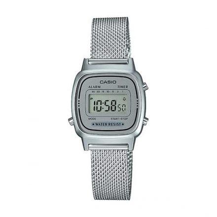 Reloj Casio LA670WEM-7EF de mujer NEW con caja de resina y malla milanesa Casio Collection