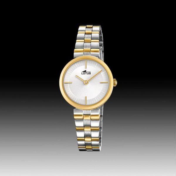 Reloj Lotus 18542/1 de mujer NEW con caja y brazalete de acero bicolor chapado Bliss