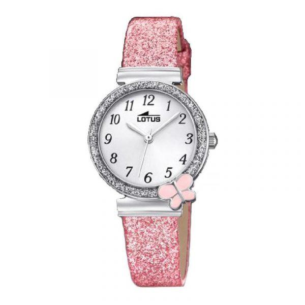 Reloj Lotus 18584/1 de niña NEW con caja de acero y correa de piel rosa Comuniones