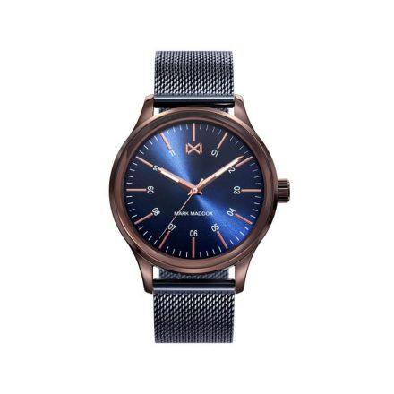 Reloj Mark Maddox HM7109-37 de hombre NEW con caja de acero ip oro rosa-azul colección Village
