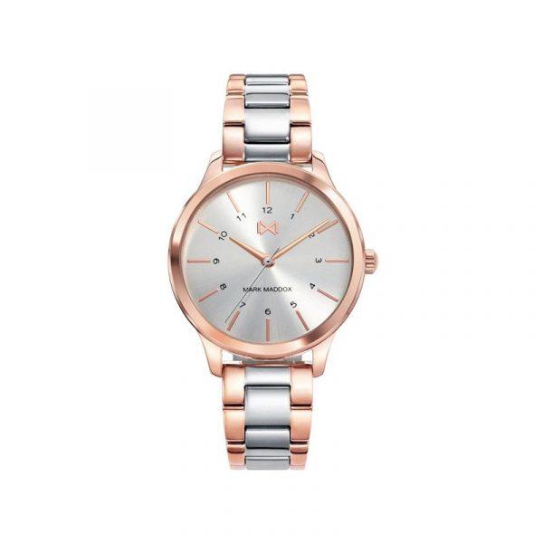 Reloj Mark Maddox MM7100-07 de mujer NEW con caja y brazalete de acero bicolor rosa colección Village