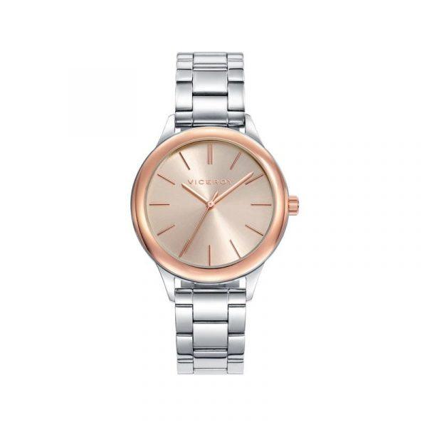 Reloj Viceroy 401034-97 de mujer NEW con caja y brazalete de acero bicolor rosa colección Chic