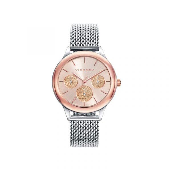 Reloj Viceroy 401036-97 de mujer NEW con caja ip rosa y brazalete malla milanesa colección Chic