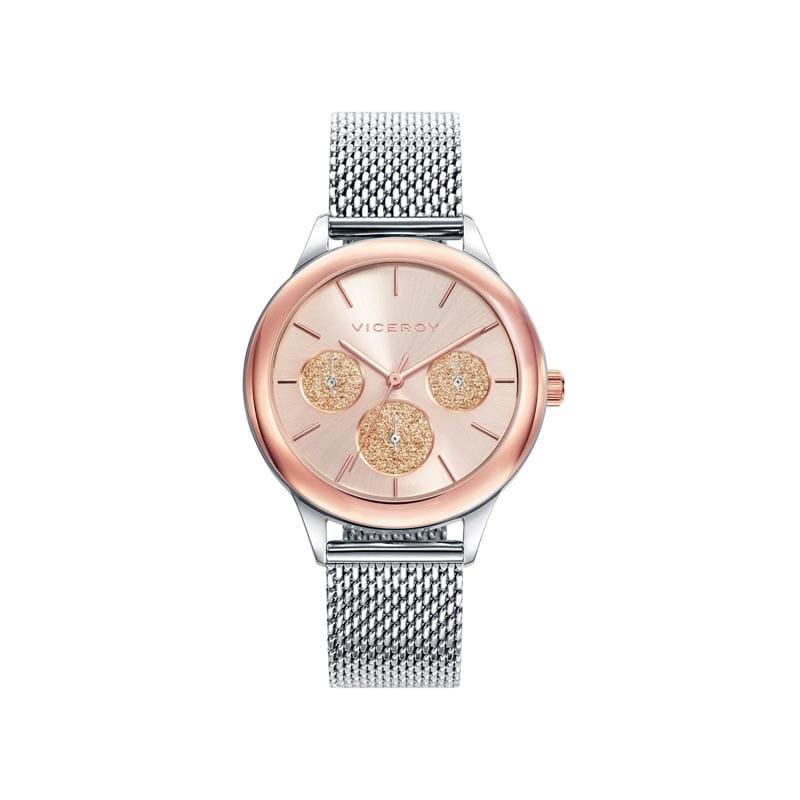 gran descuento venta profesional obtener online Reloj Viceroy 401036-97 de mujer NEW con caja ip rosa y brazalete malla  milanesa colección Chic