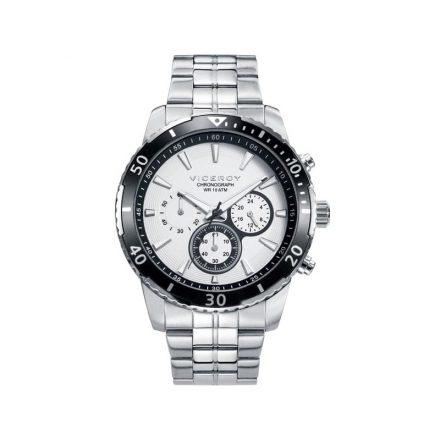 Reloj Viceroy 401127-07 de hombre NEW con caja y brazalete de acero inox cronógrafo colección Heat