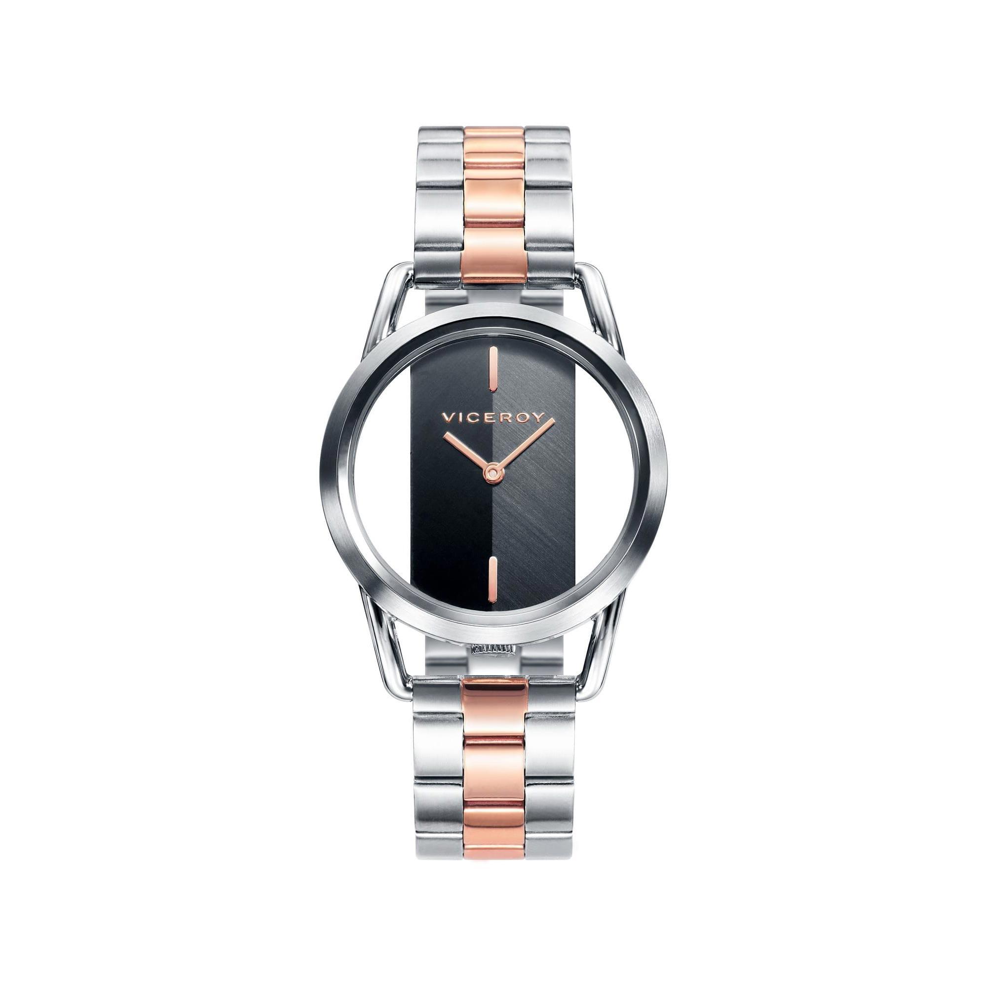 270a8be2b64b Reloj Viceroy 42336-57 de mujer NEW con caja y brazalete de acero bicolor  rosa