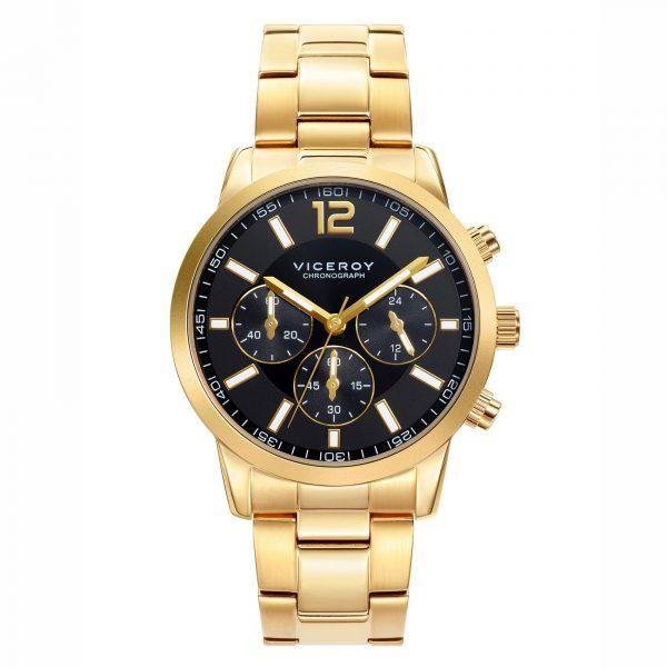 Reloj Viceroy 471051-95 de hombre NEW con caja y brazalete de acero inox chapado Cronógrafo