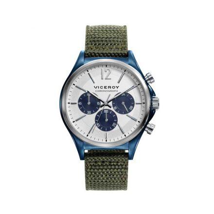 Reloj Viceroy 471109-05 de hombre NEW con caja de acero ip azul y correa de nylon verde colección Magnum