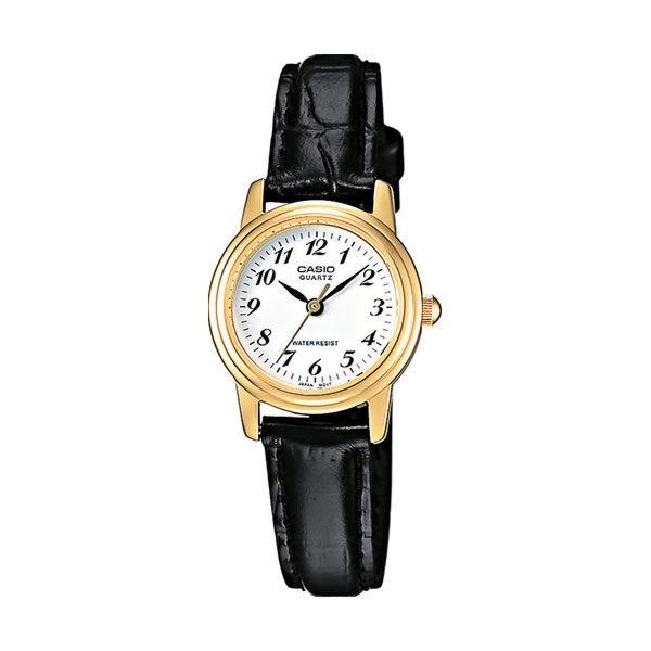 Reloj Casio de mujer LTP-1236PGL-7BEF clásico con caja de latón y correa de cuero