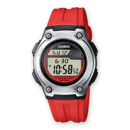 Reloj Casio para mujer, niña y niño W-211-4AVES con caja de acero inoxidable y resina y correa de resina