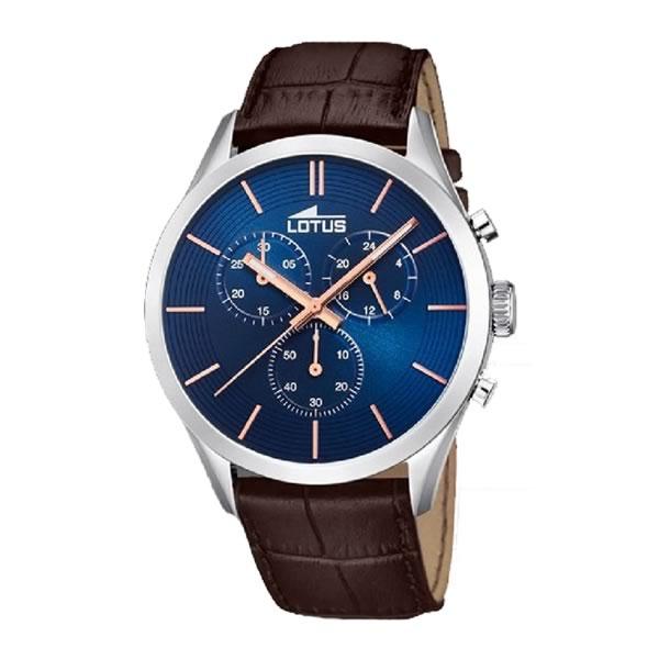e5d693d9d94b Reloj Lotus 18119 4 de hombre con caja plateada y correa de piel ...